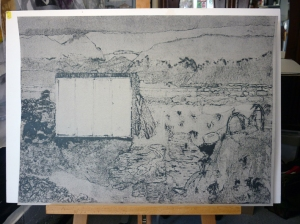 Collagraph relief