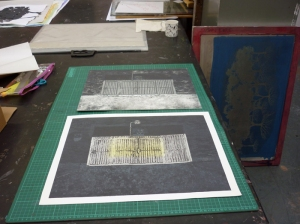 1305 Collagraph collage