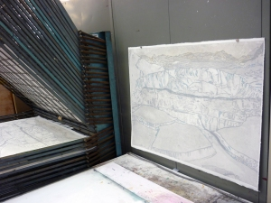 1306 Grey collagraph