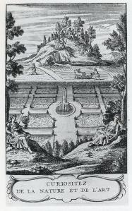 Frontispiece to l'Abbé de Vallemont's Curiositez de la nature et de l'art (1705)