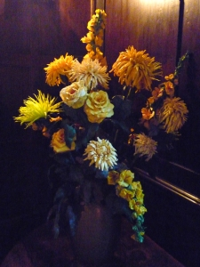 Jackie Chettur 'I set out to pick a yellow bunch to place as a lamp on my table'