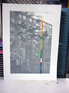 1401 Paradise Road Stockwell screen print