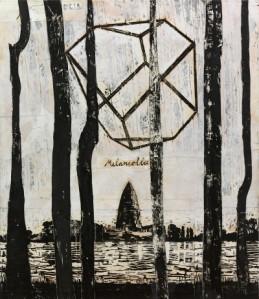 Anselm Kiefer, The Rhine (Melancholia) (Der Rhein (Melancholia)), 1982-2013. Collage of woodcut on canvas with acrylic and shellac