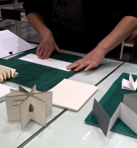 simple bookbinding workshop at RCA
