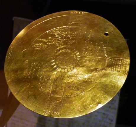 1602 John Dee gold disc