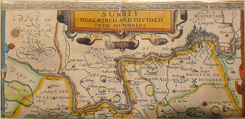 1602 John Dee surrey map