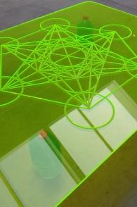 1604 The Green Ray Xavier Mary Metatron Cyber Crystal Green