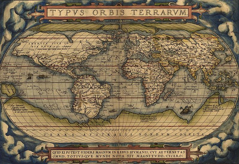 1605 Ortelius World Map1570