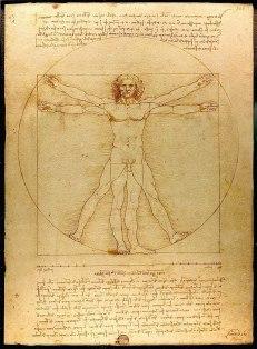 1801 Vitruvian Man Leonardo da Vinci