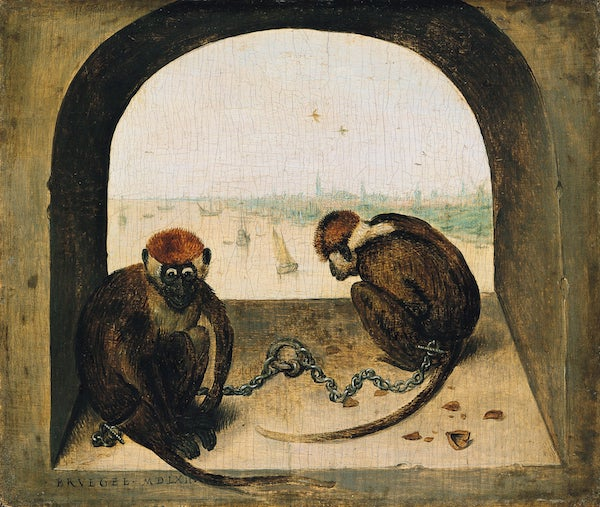 1810 Bruegel Two Monkeys