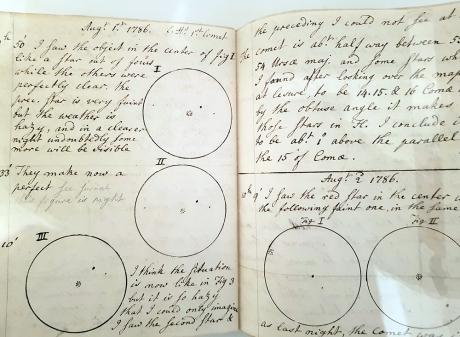 1904 Caroline Herschel notebook