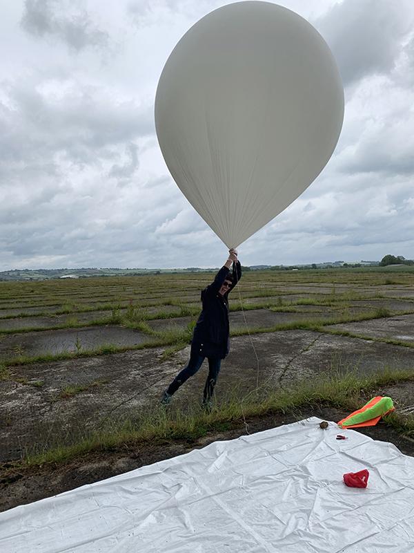 1906 balloon launch