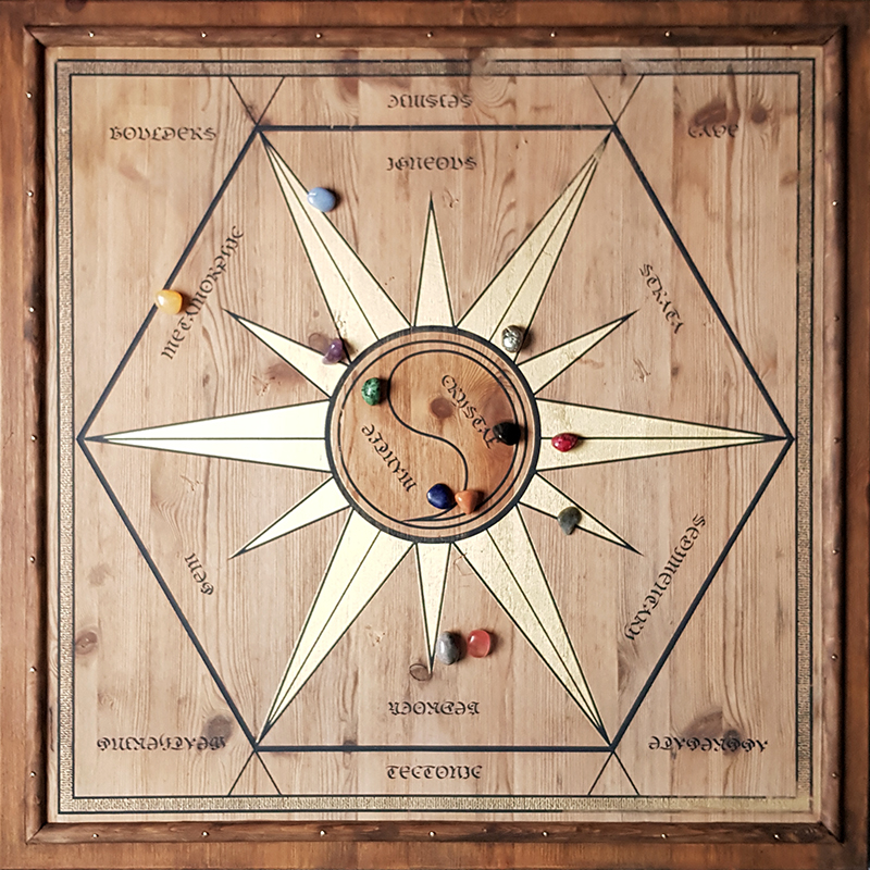 1909 lithomancy board